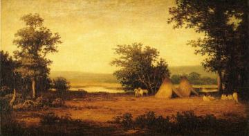 Indian Encampment on the James River, North Dakota Artwork by Ralph Albert Blakelock