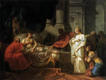 Antiochus and Stratonice Artwork by Jacques Louis David