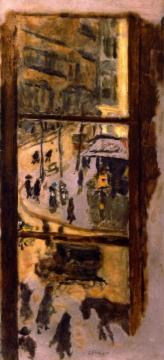 Through the Panes Artwork by Pierre Bonnard