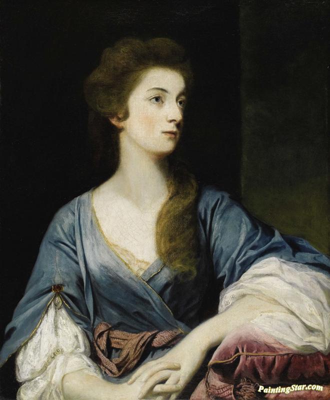 Portrait Of Miss Elizabeth Greenway Artwork By Sir Joshua Reynolds