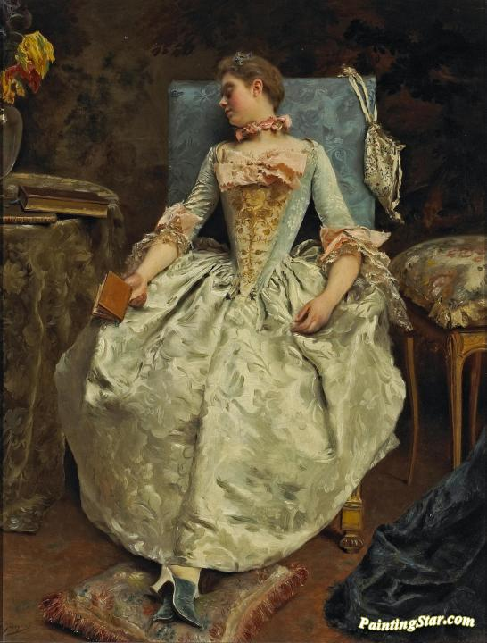 The Dream Artwork By Gustave Jean Jacquet Oil Painting & Art Prints ...