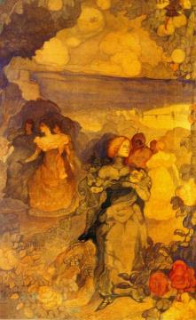 Homage a Villon Artwork by Charles Conder