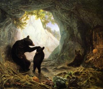 Bear And Cubs Artwork by William Holbrook Beard