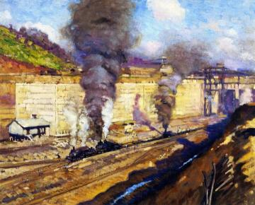 Work at Miraflores Artwork by Alson Skinner Clark