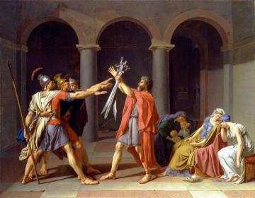 Oath of the Horatii Artwork by Jacques Louis David