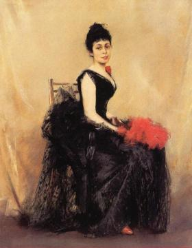 Portrait of Flora de Stephano Artwork by Robert Frederick Blum