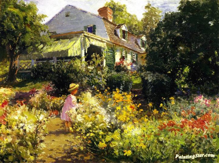 In Vorhee\u0027s Garden, Art Painting by Matilda Browne