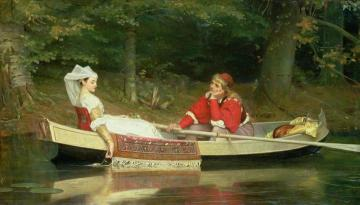 On the River Artwork by Philip Hermogenes Calderon