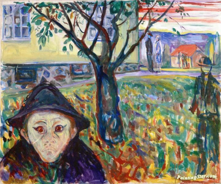 Jealousy In The Garden Artwork By Edvard Munch