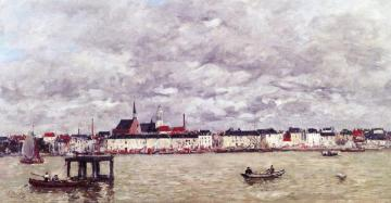 Antwerp, the Scheldt and the Quays Artwork by Eugène-Louis Boudin