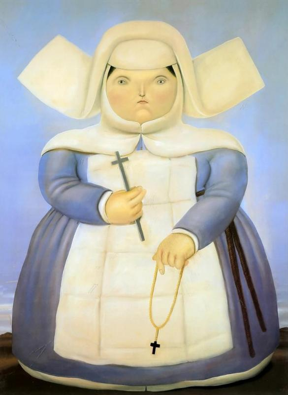 Madre Superiora Artwork by Fernando Botero