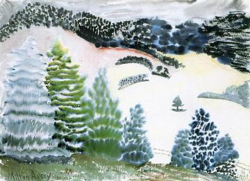 Pines And Meadows Artwork by Milton Avery