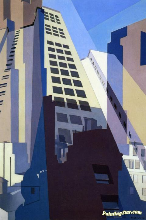 New York No 2 Artwork By Charles Sheeler Oil Painting