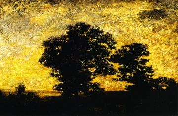 Sunset Silhouette Artwork by Ralph Albert Blakelock