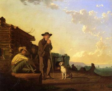 The Squatters Artwork by George Caleb Bingham