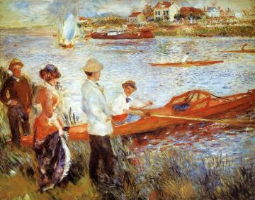 Oarsmen at Chatou Artwork by Pierre Auguste Renoir