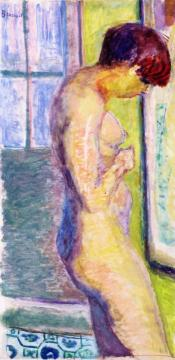 Nude in Profile Artwork by Pierre Bonnard