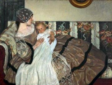 The First Born Artwork by Leonard Campbell Taylor