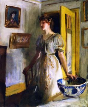 The Blue Bowl Artwork by John Singer Sargent