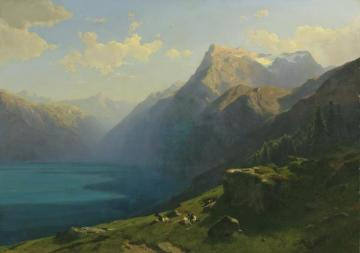 View Of Lake Lucern From Seelisberg Artwork by Alexandre Calame
