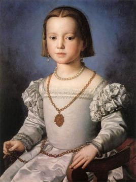 Bia, The Illegitimate Daughter of Cosimo I de' Medici Artwork by Agnolo Bronzino