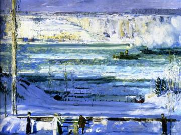 Snow-Capped River Artwork by George Wesley Bellows