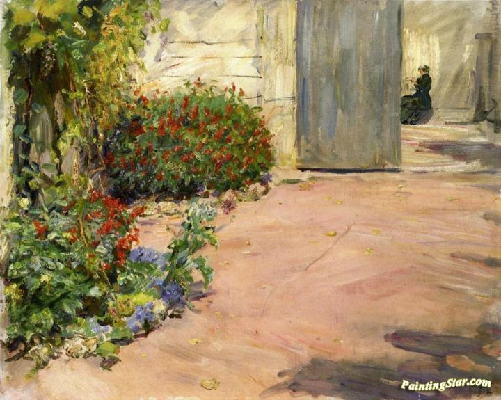 Brilliant Summer House Garden Art Painting By Max Slevogt Download Free Architecture Designs Intelgarnamadebymaigaardcom