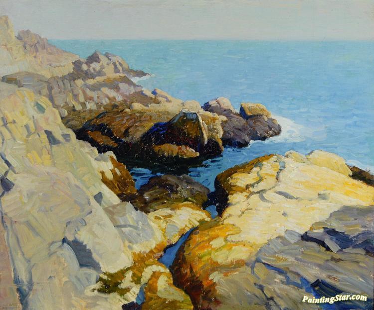 Seascape Maine Artwork By Newell Convers N C Wyeth Oil