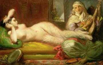 Reclining Odalisque Artwork by Theodore Chasseriau