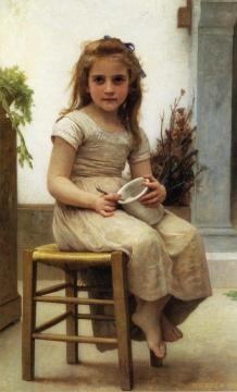 The Snack Artwork by William Adolphe Bouguereau