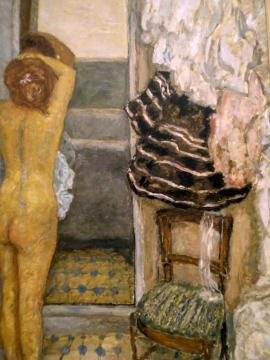 Female Nude In A Full-length Mirror Artwork by Pierre Bonnard