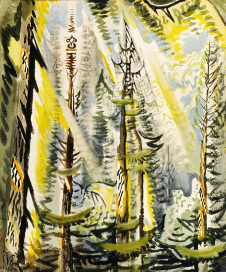 Cicada Song In September Artwork by Charles Burchfield