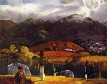 Golf Course - California Artwork by George Wesley Bellows