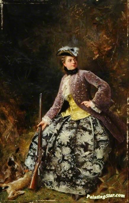 Sport Artwork by Gustave Jean Jacquet Oil Painting & Art Prints on ...