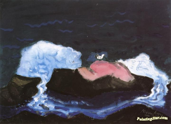 Bird And Breaking Wave Artwork by Milton Avery