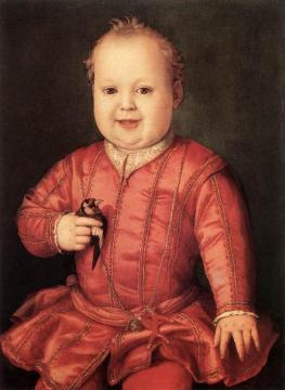 Portrait Of Giovanni De' Medici As A Child Artwork by Agnolo Bronzino