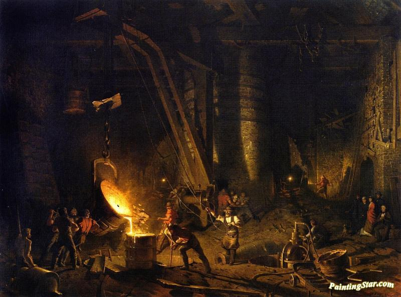 The Gun Foundry Artwork By John Ferguson Weir Oil Painting & Art ...