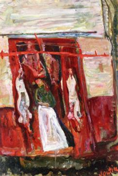 Butchers Meat Rack Artwork by Chaim Soutine