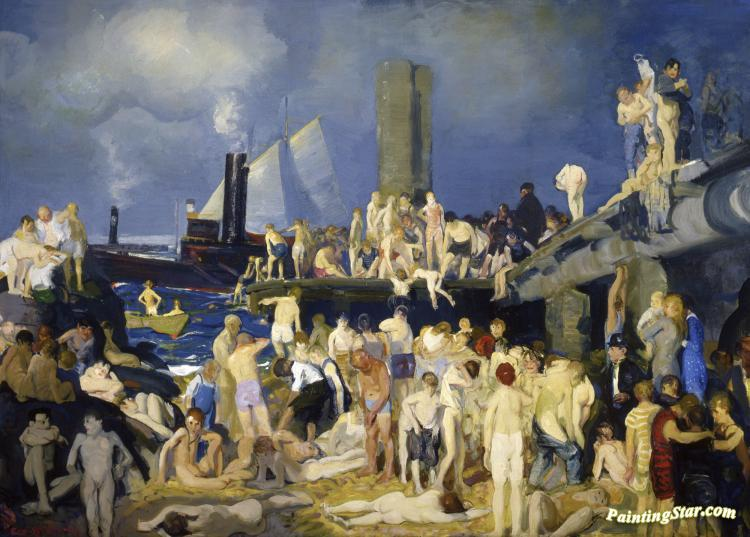 Riverfront, No. 1 Artwork by George Wesley Bellows