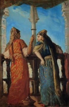 Juives d'Alger au balcon Artwork by Theodore Chasseriau