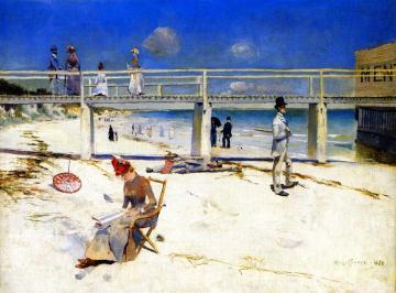A Holiday At Mentone Artwork by Charles Conder