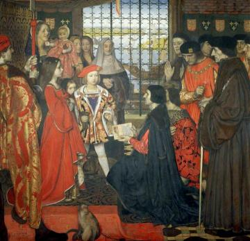 Erasmus And Thomas More Visit The Children Of King Henry Vii At Greenwich, 1499 Artwork by Frank Cadogan Cowper, R.A.