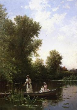 Boating In The Afternoon Artwork by Alfred Thompson Bricher