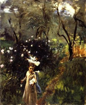 Children Picking Flowers Artwork by John Singer Sargent