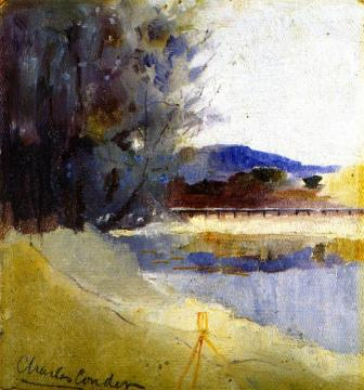 Landscape With Theodolite Artwork by Charles Conder
