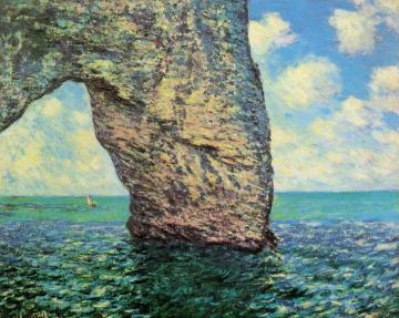 The Manneport at High Tide Artwork by Claude Oscar Monet
