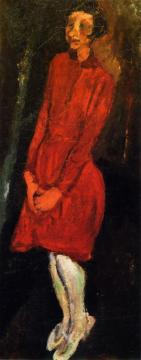 The Red Dress Artwork by Chaim Soutine