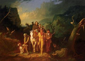 The Emigration of Daniel Boone Artwork by George Caleb Bingham