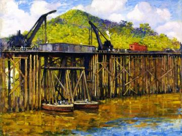 Moving The Trestles Artwork by Alson Skinner Clark