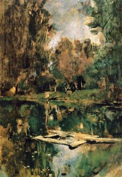 Pond in Abramtsevo (study) Artwork by Valentin Serov